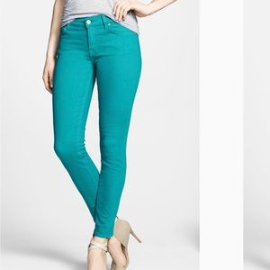 7 FOR ALL MANKIND The Ankle Skinny Jeans Teal G21